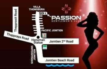 Passion club Pattaya map